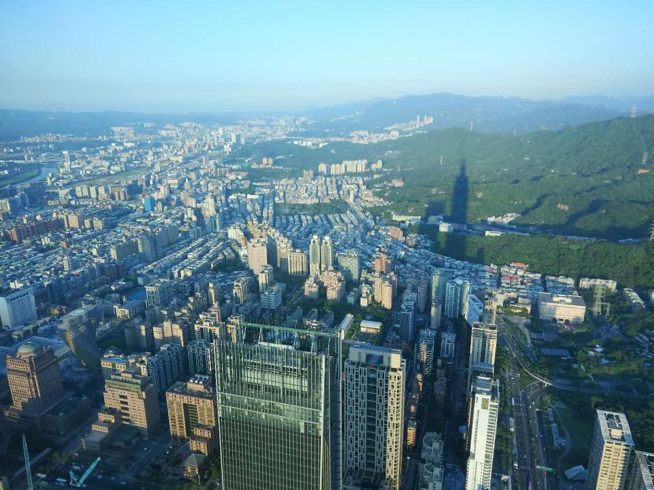 从101俯瞰台北