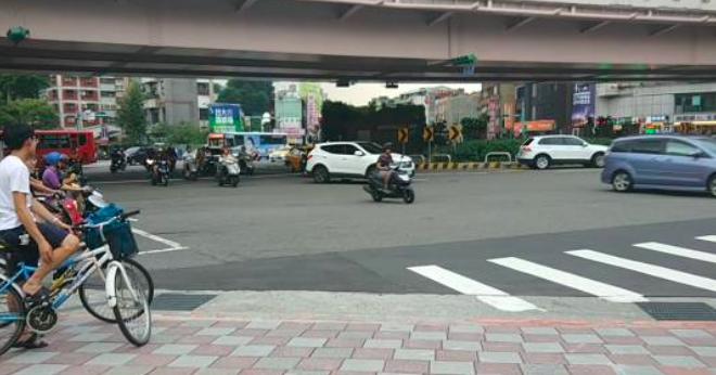 台湾街头的机车大军